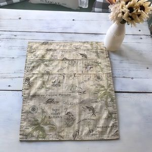 Tommy Bahama set of (4) tropical placemats